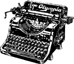 typewriter_black_white_line_art_coloring_book_colouring-555px
